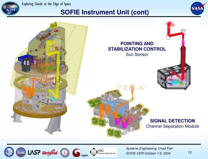 SOFIE Instrument Unit (cont)