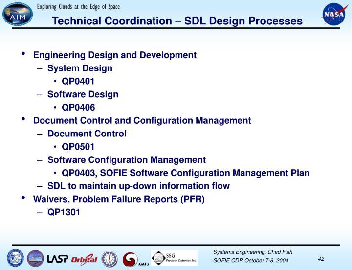 Technical Coordination – SDL Design Processes