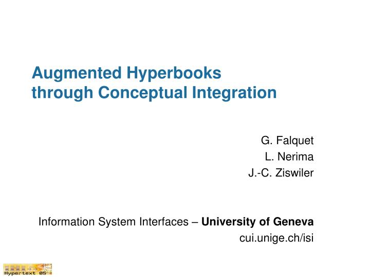 Augmented hyperbooks through conceptual integration