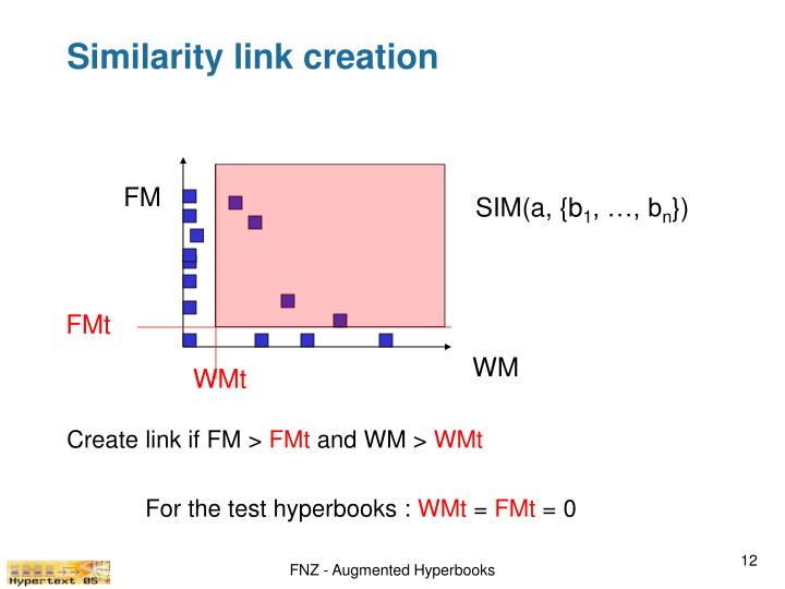Similarity link creation