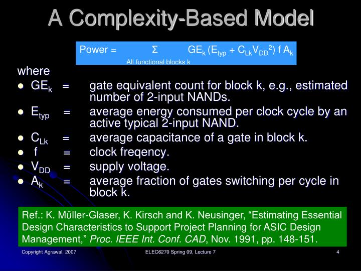 A Complexity-Based Model