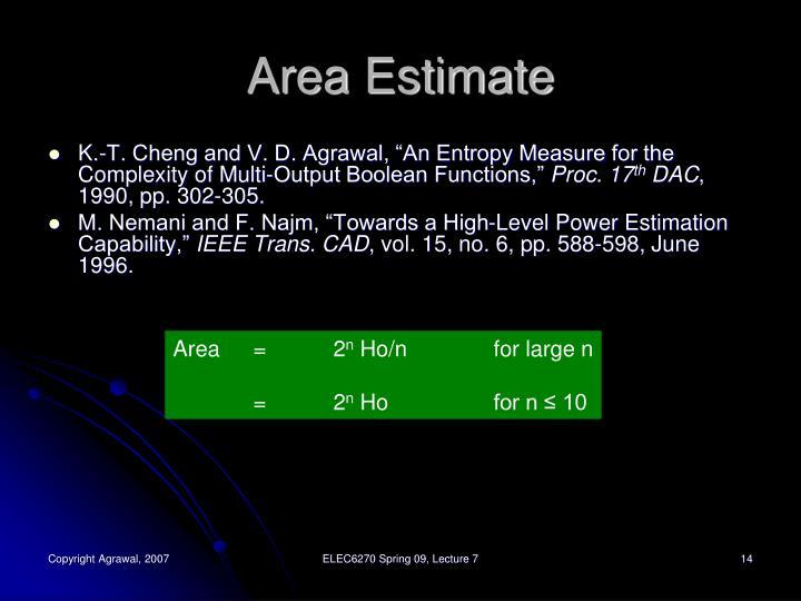 Area Estimate