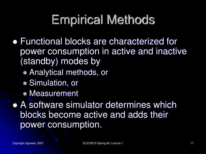 Empirical Methods