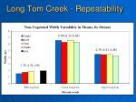 long tom creek repeatability