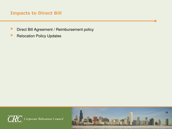 Impacts to Direct Bill