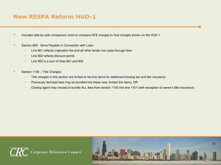 New RESPA Reform HUD-1