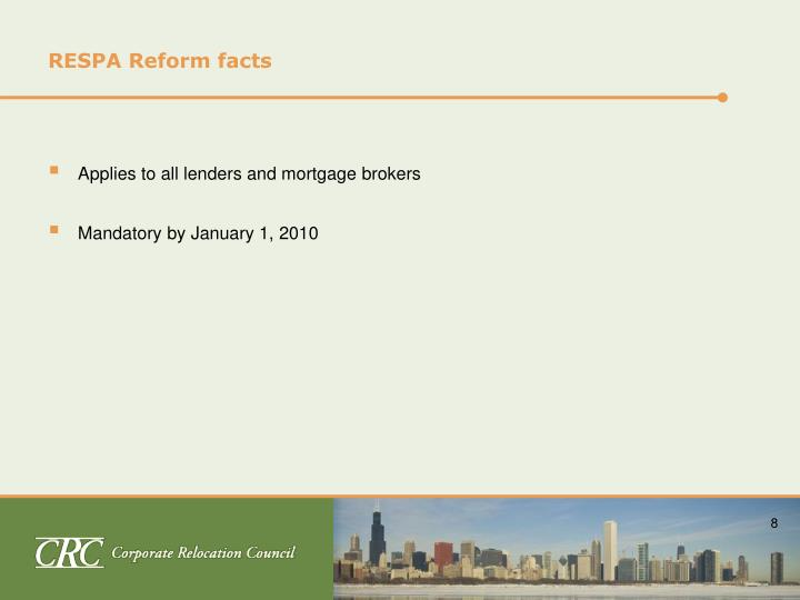 RESPA Reform facts