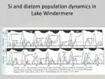 si and diatom population dynamics in lake windermere
