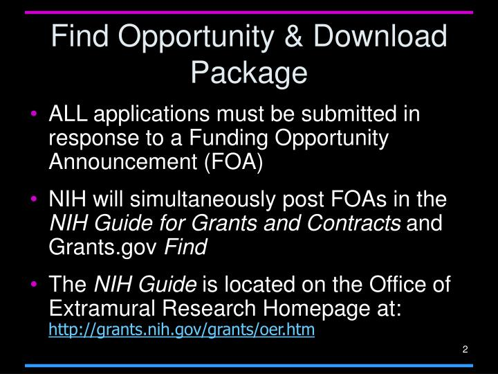 Find Opportunity & Download Package
