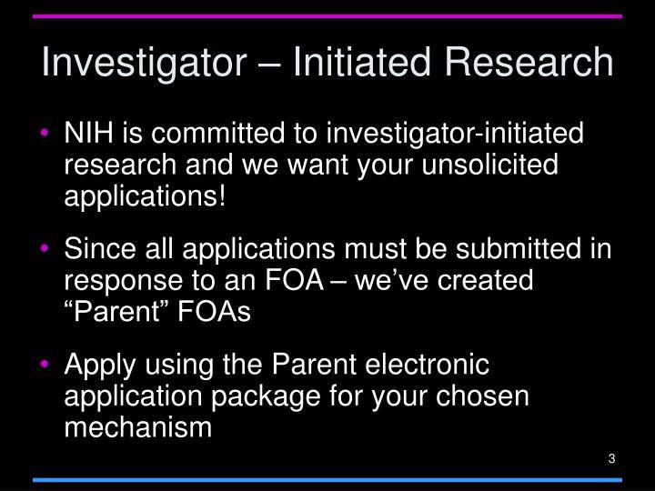 Investigator – Initiated Research