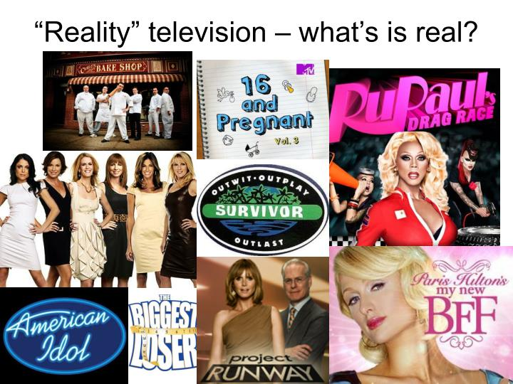 """Reality"" television – what's is real?"