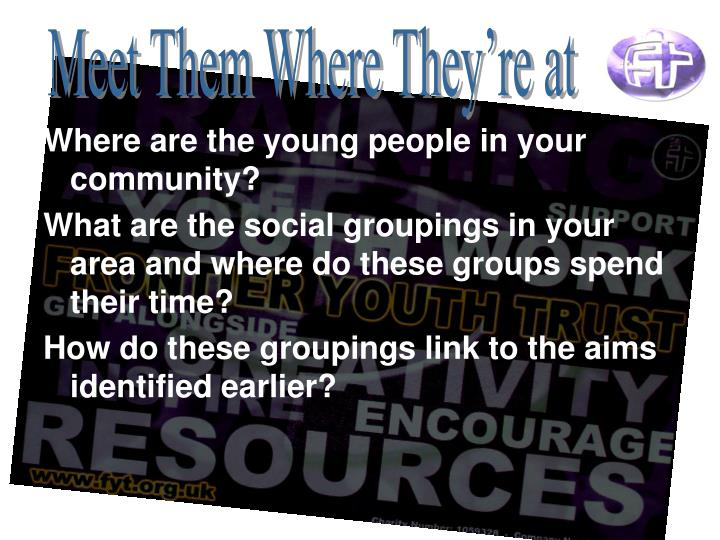 Where are the young people in your community?