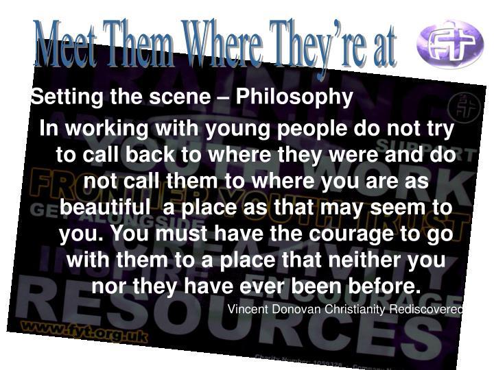 Setting the scene – Philosophy