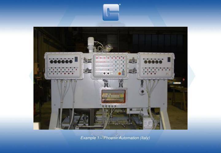 Example 1 – Phoenix Automation (Italy)