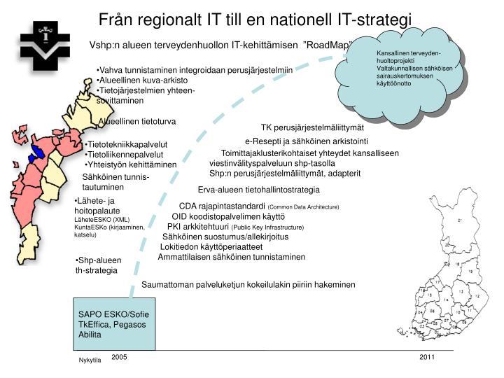 Från regionalt IT till en nationell IT-strategi