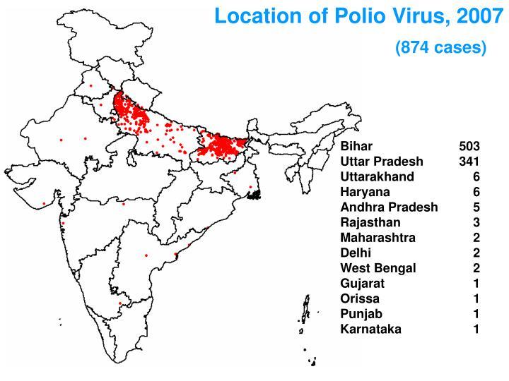 Location of Polio Virus, 2007