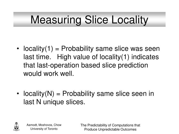 Measuring Slice Locality