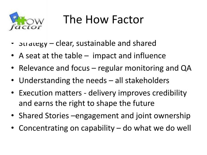 The How Factor