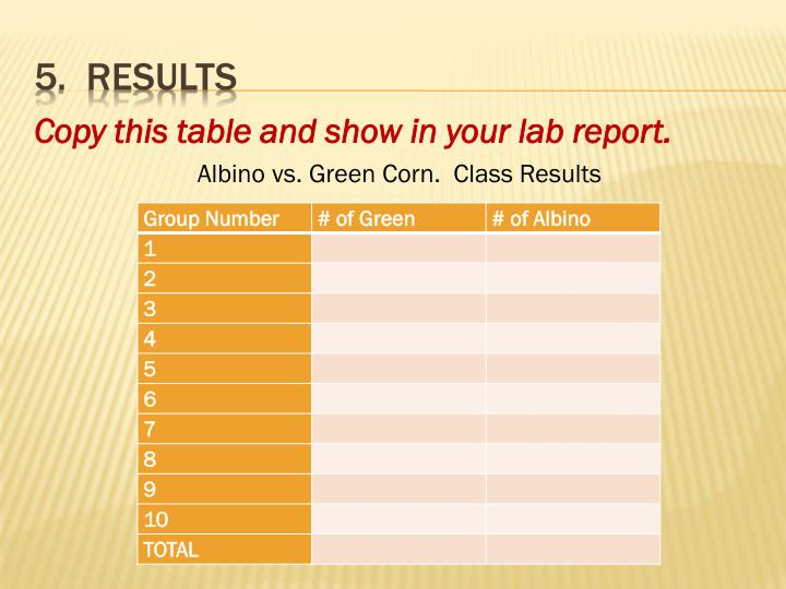 Copy this table and show in your lab report.