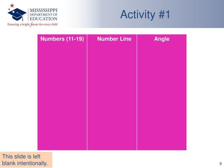 Activity #1
