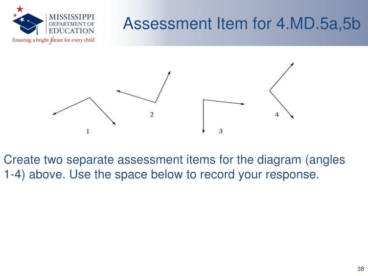 Assessment Item for 4.MD.5a,5b