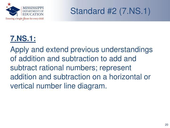Standard #2 (7.NS.1)