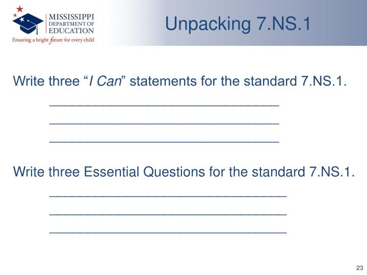 Unpacking 7.NS.1