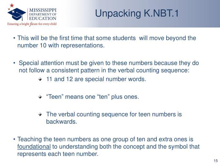 Unpacking K.NBT.1