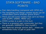 stata software bad points