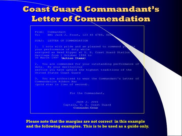 Coast Guard Commandant's Letter of Commendation