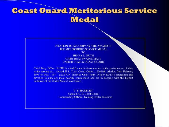 Coast Guard Meritorious Service Medal