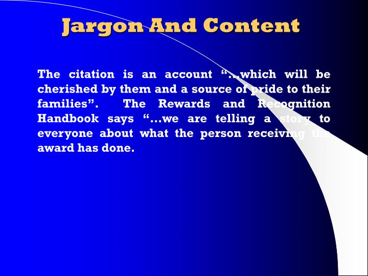 Jargon And Content