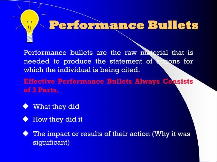 Performance Bullets