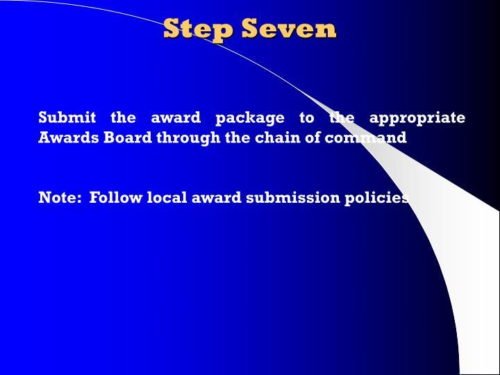 Step Seven