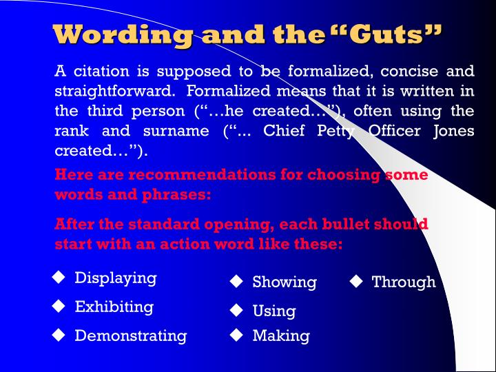 """Wording and the """"Guts"""""""