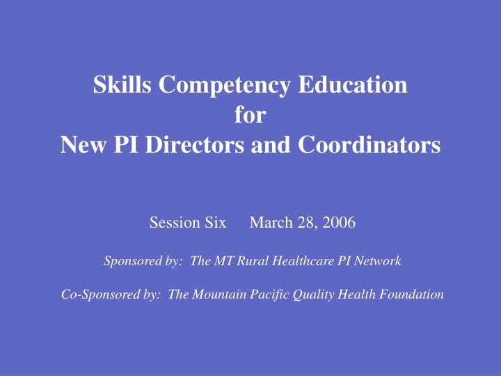 Skills Competency Education