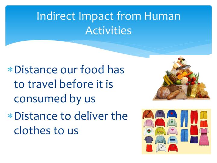 Indirect Impact from Human Activities