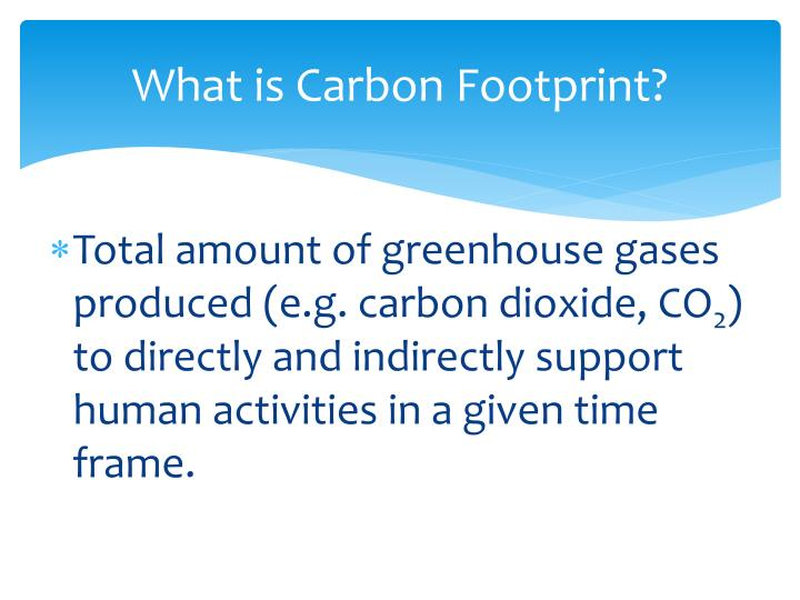 What is Carbon Footprint?