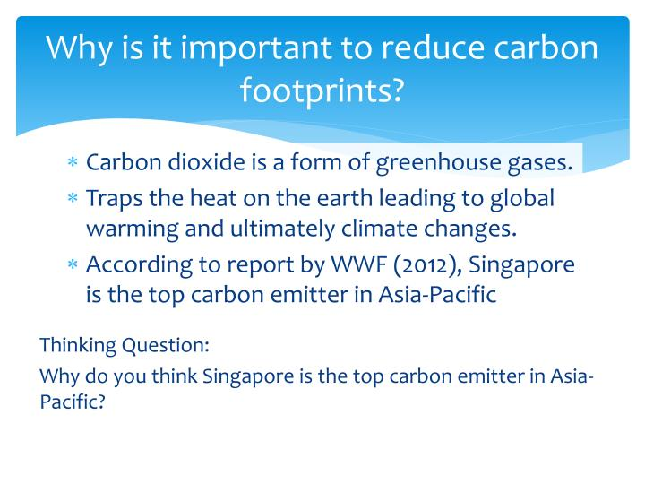 Why is it important to reduce carbon footprints?