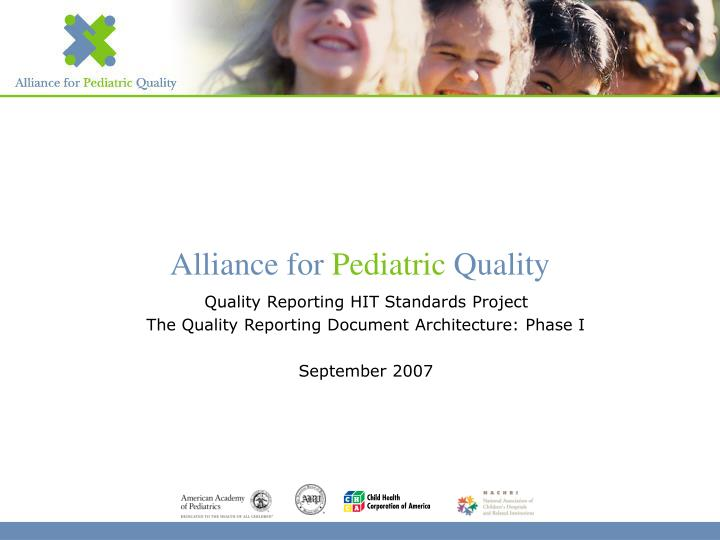 Quality Reporting HIT Standards Project