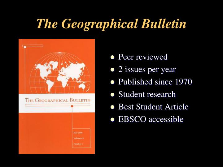 The Geographical Bulletin