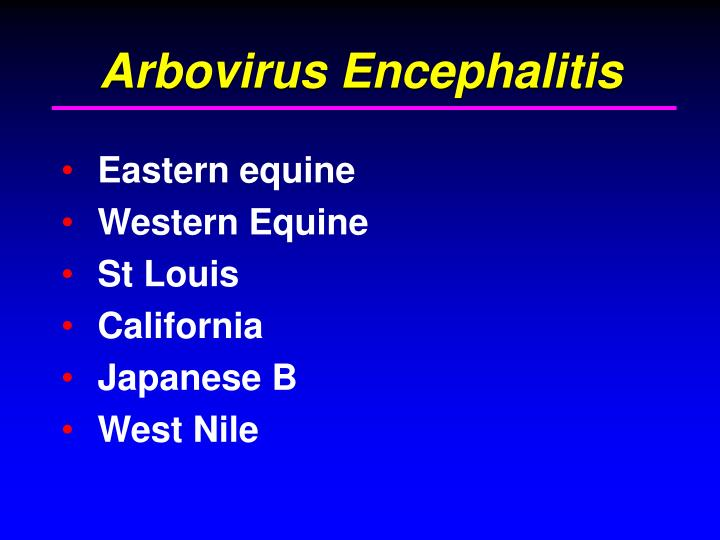 Arbovirus Encephalitis