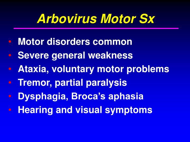 Arbovirus Motor Sx