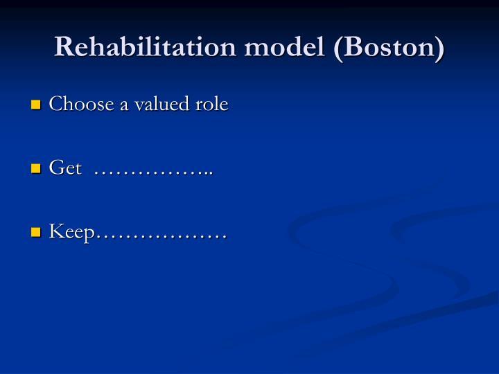 Rehabilitation model (Boston)