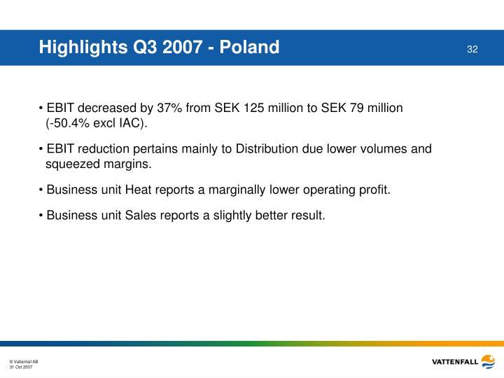 Highlights Q3 2007 - Poland