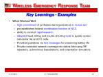 key learnings examples