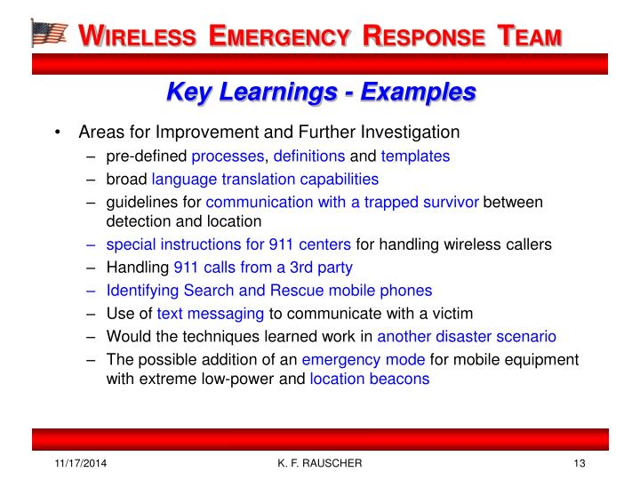 Key Learnings - Examples