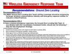 recommendations ground zero locating