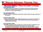 recommendations network surveillance analysis