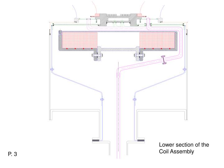 Lower section of the Coil Assembly